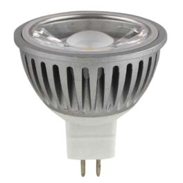 Spot LED MR16 12V GU5.3 6W blanc chaud 38°