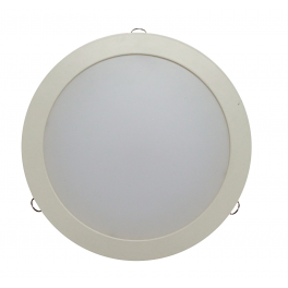 Plafonnier LED 26W 230V encastrable blanc chaud