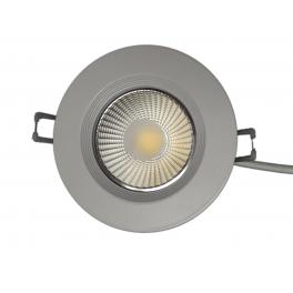 Plafonnier LED 7W 230V encastrable blanc neutre