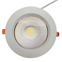 Plafonnier LED 20W 230V encastrable blanc chaud