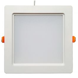 Plafonnier LED 30W 230V carré encastrable blanc neutre