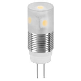 Lampe LED G4 12V 1W6 12VDC blanc chaud diamètre 14 mm