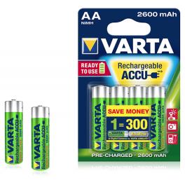 Accu Ni-MH Varta AA (LR06) 2600 mAh Blister 4
