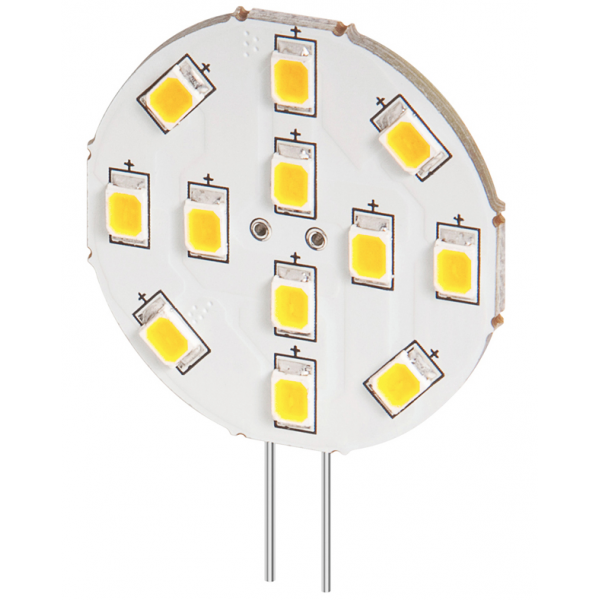 lampe led g4 12v 2w blanc chaud diam tre 30 mm 6 38 lampes led 12v culot g4. Black Bedroom Furniture Sets. Home Design Ideas