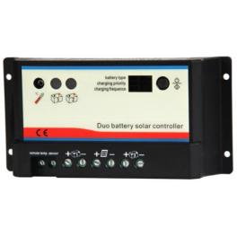 Régulateur solaire 20A 12V / 24V pour deux batteries
