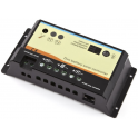 Régulateur solaire 10A 12V / 24V pour deux batteries