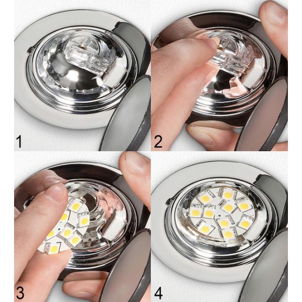 Lampe Led G4 12v 1w5 Blanc Froid Diamètre 23 Mm