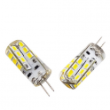 Lampe LED G4 silicone 2W2 12VDC blanc chaud diamètre 12 mm