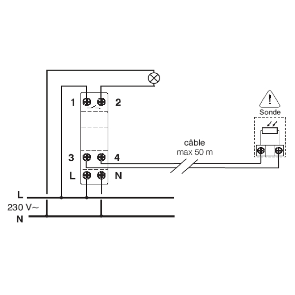 Capteur cr pusculaire for Interrupteur exterieur legrand