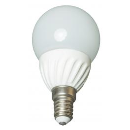 Ampoule LED bulbe douille E14, 3W 230V, blanc chaud