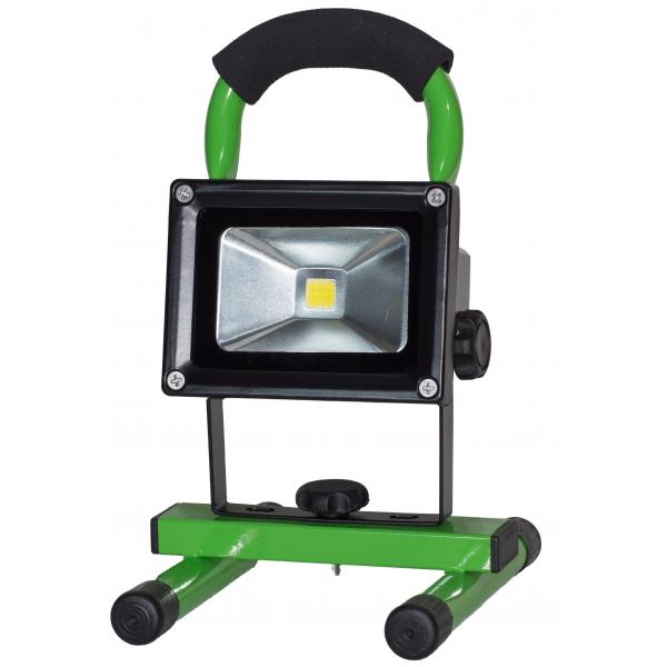 Projecteur LED 10W autonome blanc chaud IP65 extérieur