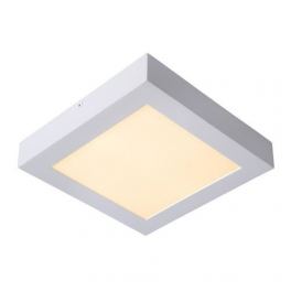 Plafonnier LED carré 12W blanc chaud montage apparent