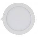 Plafonnier LED 16W 12V-230V encastrable, blanc chaud