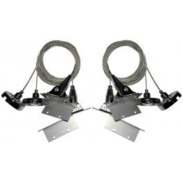 Kit de suspension pour dalles LED rectangulaires