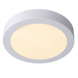 Plafonnier LED rond 24W blanc chaud montage apparent