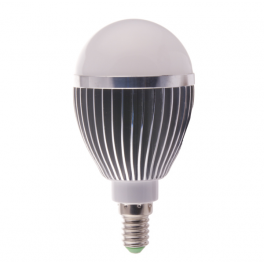 Ampoule LED bulbe douille E14, 5W 230V, blanc chaud