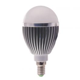 Ampoule LED bulbe douille E14, 5W 230V, blanc chaud
