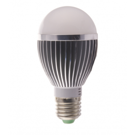 Ampoule LED bulbe douille E27, 5W 230V, blanc chaud