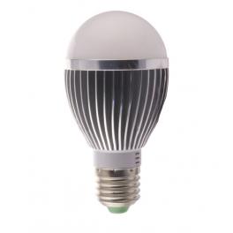 Ampoule LED bulbe douille E27, 5W 230V, blanc chaud