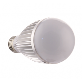 Ampoule LED bulbe douille E27, 7W 230V, blanc chaud