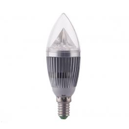 Ampoule LED bougie douille E14, 5W 230V, 180°, blanc neutre