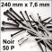 50 Colliers de serrage. Serre-câbles attache-câbles Noir 240 x 7,6 mm