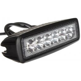 Projecteur LED de travail 18W extérieur IP67 noir rectangulaire
