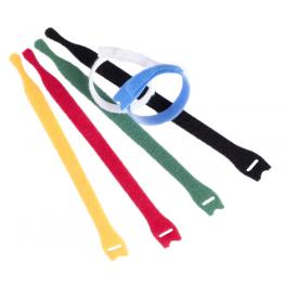 10 Serre-câbles Velcro auto-agrippants 200 mm rouge