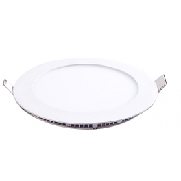 Plafonnier LED rond 6W 12V encastrable blanc neutre