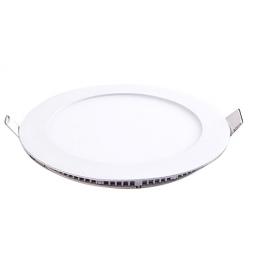 Plafonnier LED rond 6W 12V encastrable blanc neutre