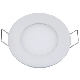 Plafonnier LED 3W 230V encastrable ultra fin teinte blanc chaud