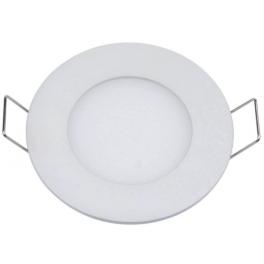Plafonnier LED 3W 230V encastrable ultra fin teinte blanc chaud