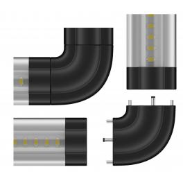 Adaptateur M/M coudé pour Réglette LED aluminium