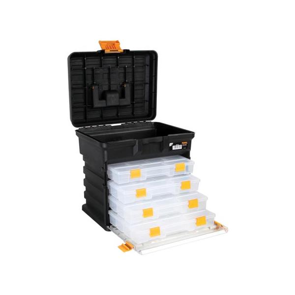 coffret de rangement avec 4 boites compartiments 276 x 203 x 42 mm 54 90 boites et casiers. Black Bedroom Furniture Sets. Home Design Ideas