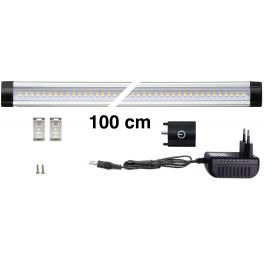 Kit Réglette LED aluminium 1m 144 LED SMD blanc neutre avec alimentation