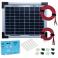 Kit panneau solaire polycristallin 5W 12V av régulateur 5A et accessoires de câblage