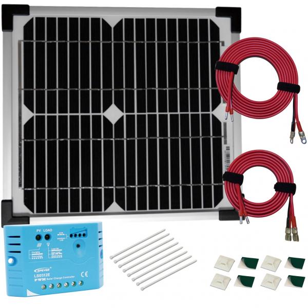kit panneau solaire monocristallin 10w 12v av r gulateur. Black Bedroom Furniture Sets. Home Design Ideas