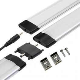 Réglette LED aluminium 1m 144 LED SMD blanc chaud cache diffusant