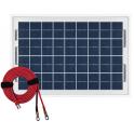 Panneau solaire polycristallin 10W 12V avec câble 2m50