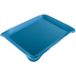 Plateau de service bleu 390 x 290 mm
