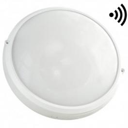 Plafonnier LED type Hublot 15W blanc neutre IP65 avec détecteur