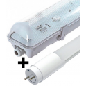 Bloc tube LED 0,60 m 9W blanc neutre étanche IP65