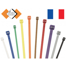 100 Colliers serrage type RILSAN / COLSON Blanc 370 x 3,6 mm