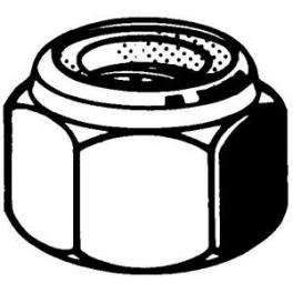 10 Ecrous Frein Hexagonaux M2,5 Acier Inoxydable A2