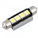 Lampe LED navette 42 mm 12VDC 1W5 blanc froid