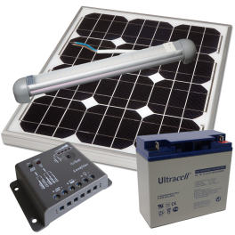 Kit éclairage solaire (panneau régulateur batterie ampoule)