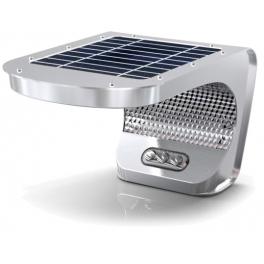 Admirable Eclairage solaire LED IP65 3W alu avec détecteur de mouvement 700 OF-43